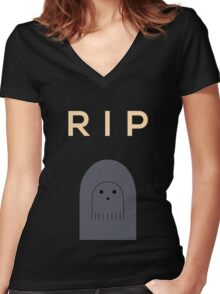 Ghostly Remembrance  Women's Fitted V-Neck T-Shirt