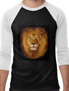 Lion at sunset Men's Baseball ¾ T-Shirt