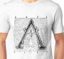 Baroque Alphabet Letter A Unisex T-Shirt