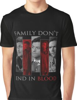 Supernatural Family Don't End in Blood v2.0 Graphic T-Shirt