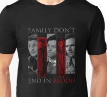 Supernatural Family Don't End in Blood v2.0 Unisex T-Shirt