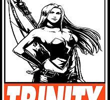 Trish Trinity Obey Design by SquallAndSeifer
