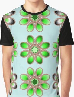 Shades of Green Foot Flowers Graphic T-Shirt