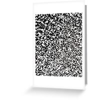 White noise Greeting Card