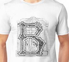 Baroque Alphabet Letter B Unisex T-Shirt