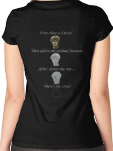 Paint a circle whit a david ! Women's Fitted Scoop T-Shirt