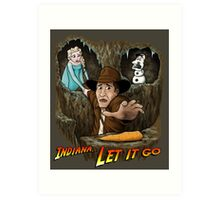 Indiana... Let It Go Art Print