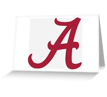 Alabama Crimson Greeting Card