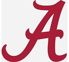 Alabama Crimson Photographic Print