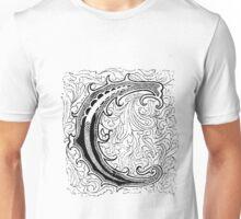 Baroque Alphabet Letter C Unisex T-Shirt