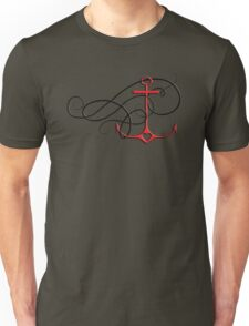 anchor with swirl Unisex T-Shirt