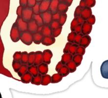 Pomegranate Berry Fruit Design Sticker