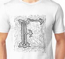 Baroque Alphabet Letter F Unisex T-Shirt