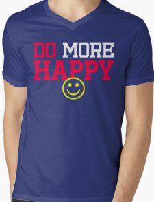 Do More Happy   By FRESH Mens V-Neck T-Shirt