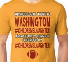Funny Football: #CHILDRENSLAUGHTER Unisex T-Shirt