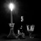Candle light Drinking B&W by henuly1