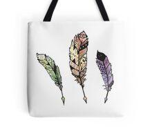 Watercolor Quill design Tote Bag