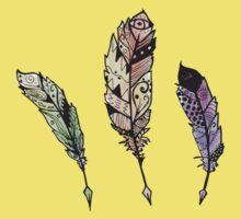 Watercolor Quill design Kids Tee