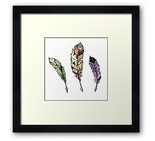 Watercolor Quill design Framed Print