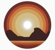 Circle Sunset One Piece - Short Sleeve