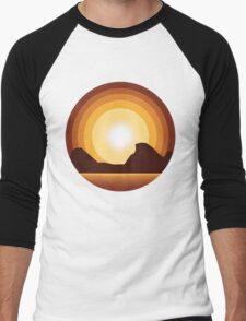 Circle Sunset Men's Baseball ¾ T-Shirt