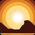 Circle Sunset by Lhasau