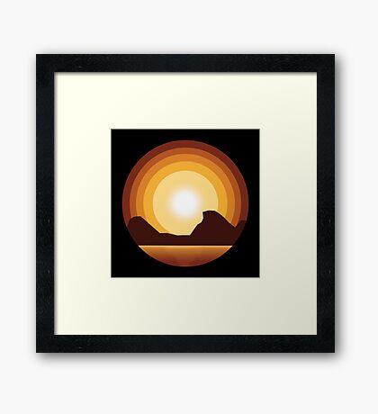Circle Sunset Framed Print