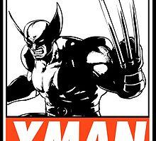 Wolverine Xman Obey Design by SquallAndSeifer