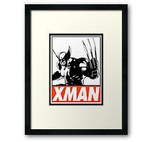 Wolverine Xman Obey Design Framed Print