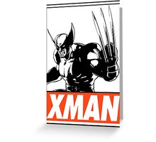 Wolverine Xman Obey Design Greeting Card