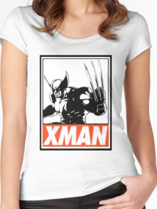 Wolverine Xman Obey Design Women's Fitted Scoop T-Shirt