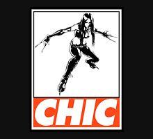 X-23 Chic Obey Design Men's Baseball ¾ T-Shirt