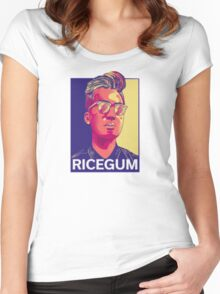RiceGum Crew - Long Sleeve (Sweatshirt) Women's Fitted Scoop T-Shirt