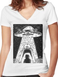 Close Encounters  Women's Fitted V-Neck T-Shirt