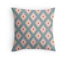 Vintage Colored Diamond Ikat Pattern Throw Pillow