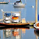 Colorful Boats Rockland Harbor by Marianne Campolongo