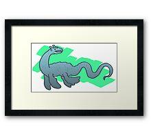 Water monster Framed Print