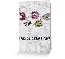 Fartsy Creations Logo Greeting Card