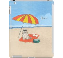 Pawprints on the Beach iPad Case/Skin