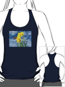 Copper Butterfly with Daffodils  T-Shirt