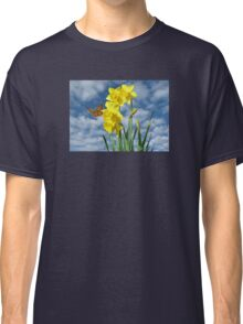Copper Butterfly with Daffodils  Classic T-Shirt