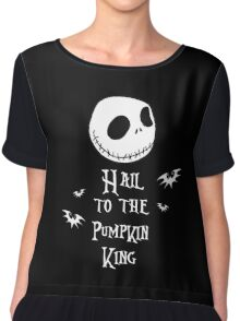 Nightmare Before Christmas - Hail to the Pumpkin King v3.0 Chiffon Top