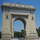 Triumphal Arch, Bucharest, Romania by Margaret  Hyde