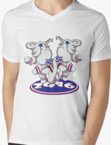 Patriotic Elephants Mens V-Neck T-Shirt