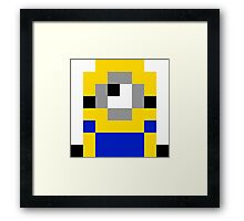 Pixel Minion Framed Print