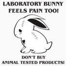 Laboratroy bunny feels pain too! by Melinda Kónya