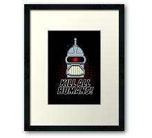 'Bite My Shiny Cylon Ass' Framed Print