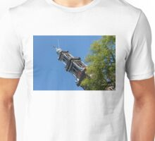 Amsterdam Spring - Blue Crown Westerkerk Bell Tower Above the Trees Unisex T-Shirt