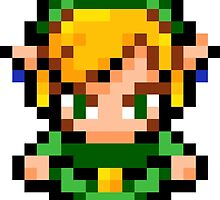 Pixel Link - Legend of Zelda by lonelycubone