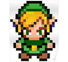 Pixel Link - Legend of Zelda Poster